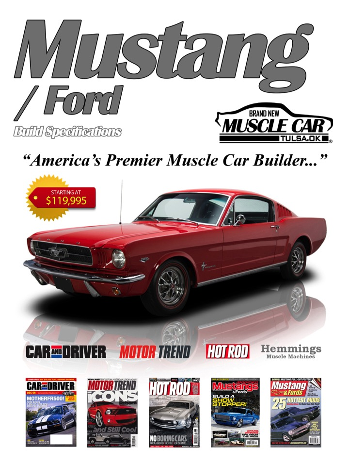 Ford Mustang Brochure Page 1 Brand New Muscle Car Eleanor Replica Builder For Tulsa Oklahoma