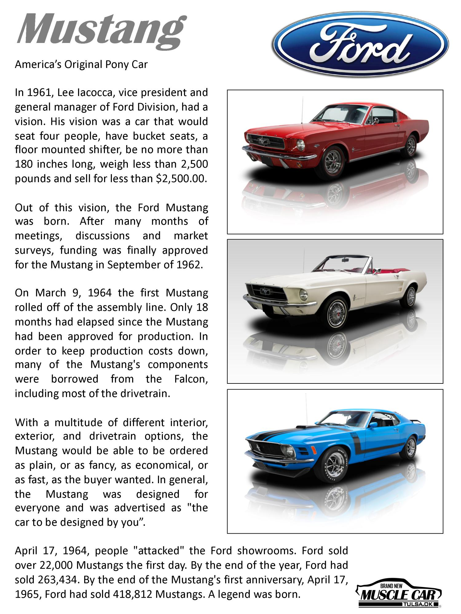 Ford Mustang Brochure Page 3 Brand New Muscle Car Eleanor Mustang Replica Builder For Sale Tulsa Oklahoma